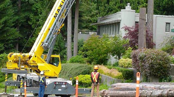 Lifting Logs from Expensive Homes